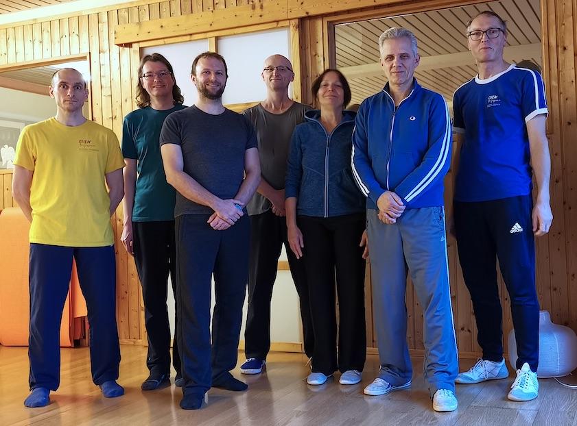 Gruppenfoto zum Chen Taijiquan Workshop in Nürnberg mit Meister Dietmar Stubenbaum 2019