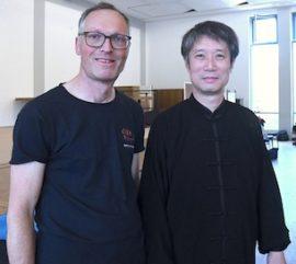 Bild: Jens Weinbrecht und Meister Chen Peishan 2019 in Saarbrücken